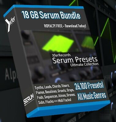 26,100+ xFer SERUM Synth Presets - LOGIC ABLETON FL STUDIO CUBASE REASON SONAR