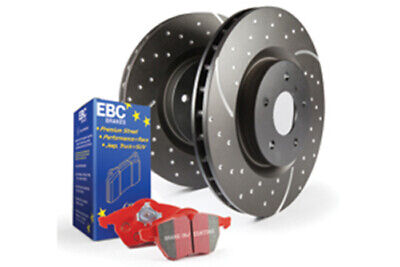 EBC Brakes Redstuff Pad and GD Slotted/Dimpled Disc Kit [PD12KR140]