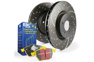 EBC Brakes Yellowstuff Pad and GD Slotted/Dimpled Disc Kit [PD13KR334]
