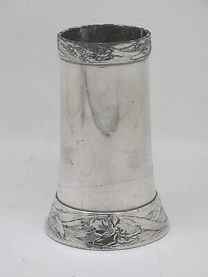 JAMES W. TUFTS Boston Silverplate Floral Border Vase