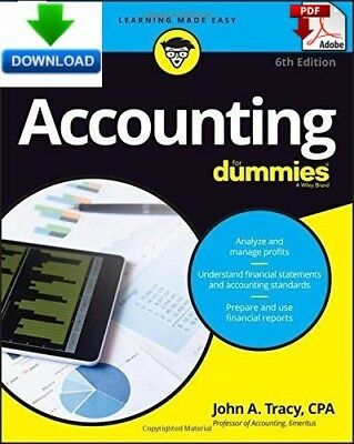 Accounting For Dummies - Read on PC, Tablet or Phone - Fast PDF DOWNLOAD