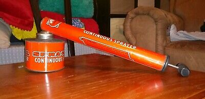 Vintage SPRA-WELL Bug Sprayer Orange Metal ! VERY Nice