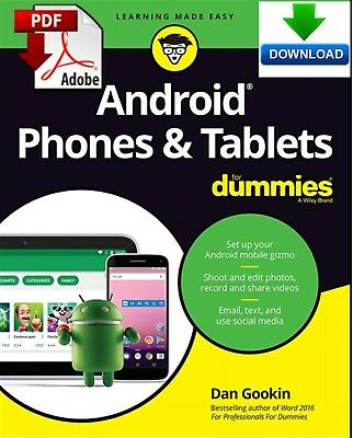 Android Phones & Tablets For Dummies - Read on PC or Tablet - Fast PDF DOWNLOAD