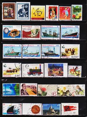 Worldwide 500 Different Used Stamps Collection Lot #k0312