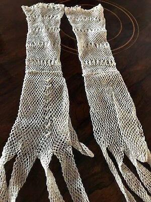 Original Vintage 1930s Crochet Gloves. Offers Welcome. Reduced