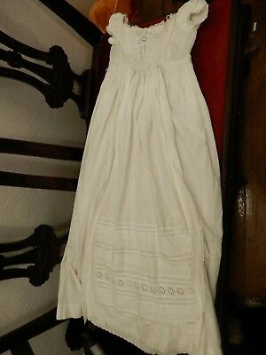 Antique Victorian Whitework Christening Robe Suitable Fr Large Antique Baby Doll