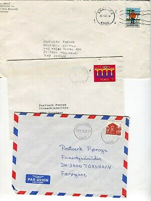 Norway to Faroe Islands Lot of 3 Covers Scarce Destination