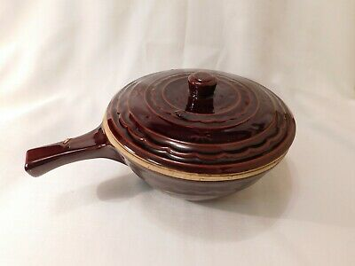MARCREST Daisy Dot Ovenproof Stoneware Covered Serving Dish / Pan