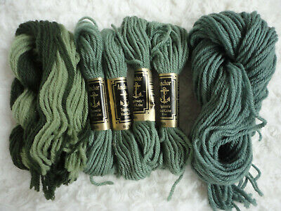 Anchor Tapestry Wool Yarn - Number 9076 Green - Job Lot