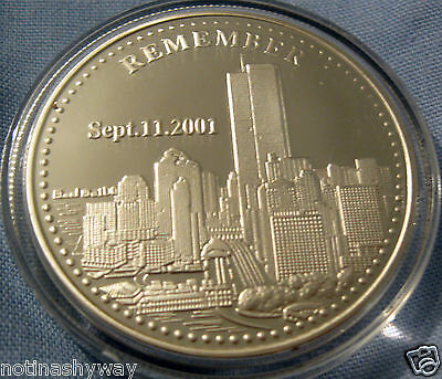 9/11 Silver Coin Man Americana World Trade Center September 11th New York City U