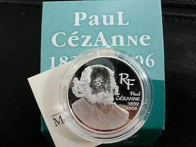 1,5 euro BE argent 2006 Paul Cezanne Complet neuf RARE !!