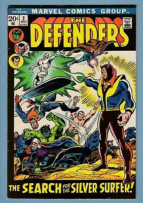 Defenders # 2 Fnvf (6.5/7.0) Silver Surfer X-Over_Glossy Higher Grade Cents_1972