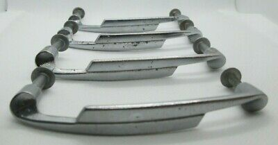 Vintage Lot of 4 Silver Drawer Pulls Handle Cabinet Cupboard 4 inch
