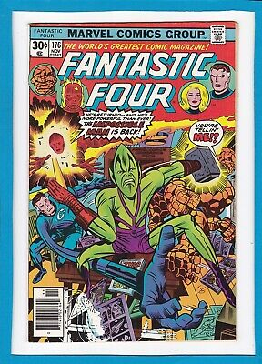 """Fantastic Four #176_November 1976_Vf+_""""the Impossible Man Is Back""""_Bronze Age!"""