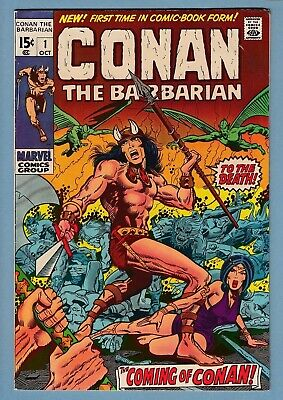 CONAN THE BARBARIAN # 1 FNVF (7.0) ORIGIN & 1st APPEARANCE of CONAN - CENTS- KEY