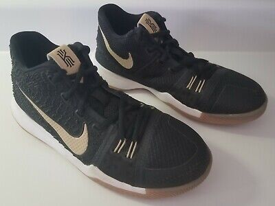 59a3866eb137 Nike Kyrie 3 III Black Gum Badge of Honor (GS) Grade School shoes size