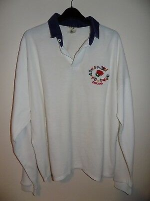 very rare England home rugby union shirt size xl 80's era