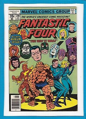 Fantastic Four #190_January 1978_Vf Minus_All-New Album Issue_Jack Kirby Cover!