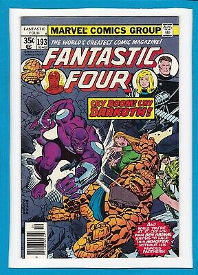 """Fantastic Four #193_April 1978_Very Fine+_""""cry Doom, Cry Darkoth""""_Bronze Age!"""