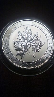 2015 Canadian 1.5 oz multi maple leaf 999.9 Silver Bullion Coin.