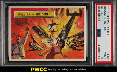 1965 Topps Battle Disaster In The Street #43 PSA 9 MINT (PWCC)