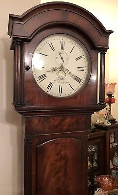 Antique Grandfather Clock By Ball Of Birmingham C1860 No RESERVE