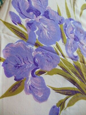 Vintage Purple Iris Flower California Prints Tablecloth 50 by 65