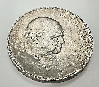 Winston Churchill Coin Crown WWII WWI Hitler Nazi Germany Medal Silver London UK