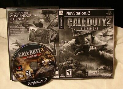 Sony PS2 video game BACKWARD COMPATIBLE w/ PS3  CALL OF DUTY  Finest Big Red One