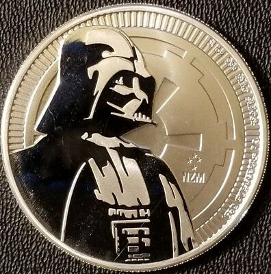 2017 Niue Star Wars Darth Vader 1 oz .999 Fine Silver Bullion