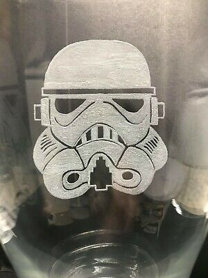 Star Wars Stormtrooper hand engraved Pint glass free personalisation & gift bag