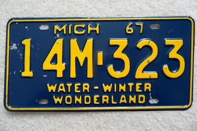 Michigan 1967 Manufacturer License Plate – Look