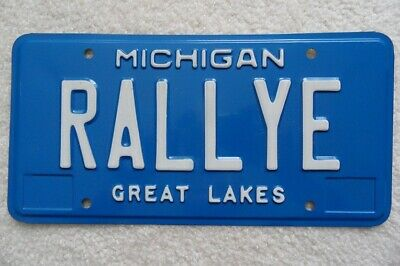 "Michigan Personalized License Plate ""Rallye"" – Look"