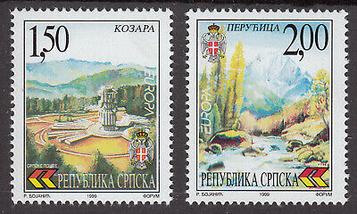 Bosnia Serbia 1999 Europa CEPT Mi.Nr.125/26 High CV $150.00 very fine set MNH