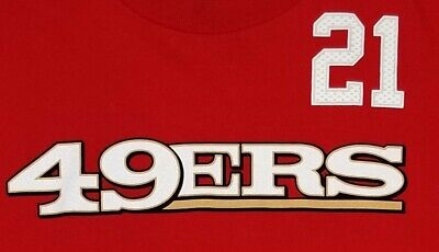 San Francisco 49ers NFL Men s Reebok  21 Frank Gore T-Shirt Red Size Large 492cbc791