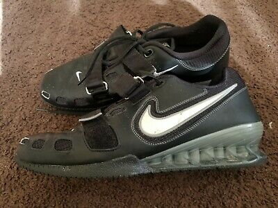 a121711efa8f NIKE ROMALEOS 2 MENS WEIGHTLIFTING SHOES BLACK GREY WHITE size 11 ...