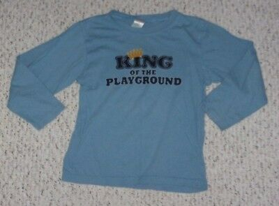 """King of the Playground"" Blue Gymboree L/S T-Shirt, Turbo Racer Outlet, 5T, VGUC"