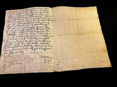 Antique Document 1669