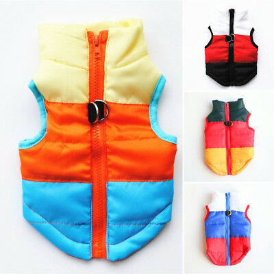 Comfy Soft Dog Jacket Padded Waterproof Pet Clothes Warm Vest Coat Winter