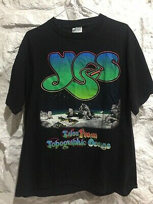 Original Vintage 1991 YES Concert WORLD TOUR T SHIRT XL Made in USA
