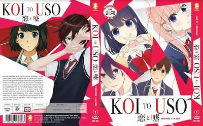 DVD KOI TO USO (Love and Lies) 1-12 End English Subtitle Free Shipping