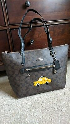 Coach Limited Edition NY Stories, Yellow Taxi tote, NEW with dust bag.  Signature 9054a880cc