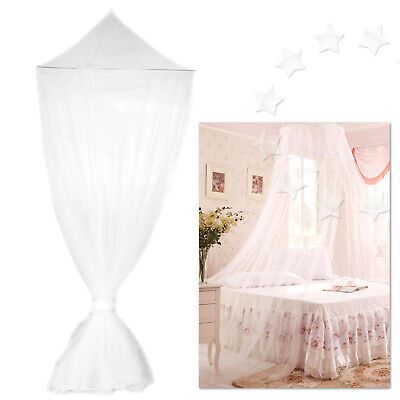 NEW House Mosquito Net Bed Single King Midge Insect Fly Canopy Netting White EZ