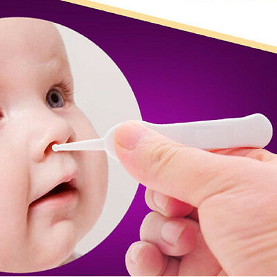 Baby's Cleaning Tweezer Ear Nose Navel Cleaner Remover Plastic Forcep Body FA