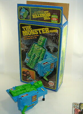 1977 THE MONSTER GAME Ideal Toys Frankenstein  Box is Excellent