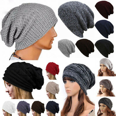 24a8bba8402ee CC Beanie Mens Womens Knit Slouchy Oversized Thick Cap Hat Unisex Slouch  Winter