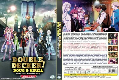 DVD English Dubbed  Anime Double Decker! Doug & Kirill (VOL.1-13 END) +Tracking