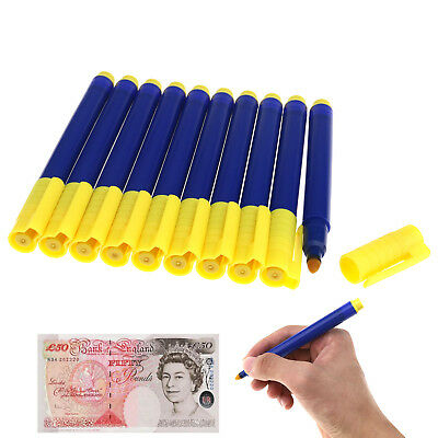 10 Bank Note Checker Pen Counterfeit Fake Forged Money Detector Tester Marker