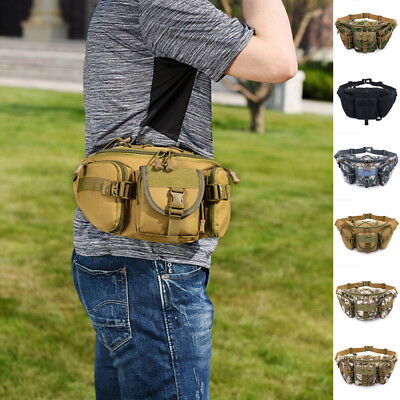 Men Tactical Pouch Belt Waist Bag Military Fanny Pack Pocket Outdoor Hiking US