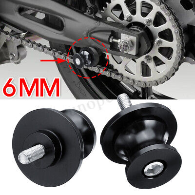 6MM M6x1.25mm Motorcycle Paddock Stand Bobbin Adapter For Yamaha YZF R6 R1 98-11